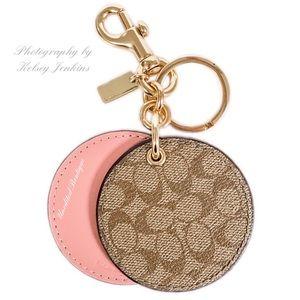 🆕 COACH Mirror Bag Charm Keychain